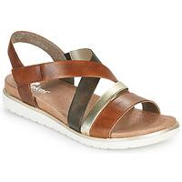Pantofi Femei Sandale  Rieker MARRO Maro / Argintiu