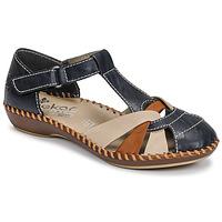 Pantofi Femei Sandale  Rieker BLUE Albastru / Maro