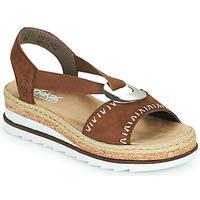 Pantofi Femei Sandale  Rieker FARRO Maro