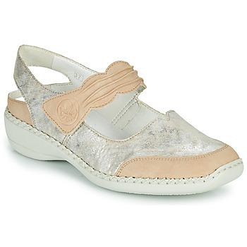 Pantofi Femei Sandale  Rieker ALINA Argintiu