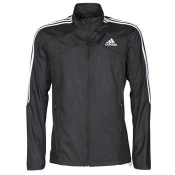Îmbracaminte Bărbați Bluze îmbrăcăminte sport  adidas Performance MARATHON JKT Negru