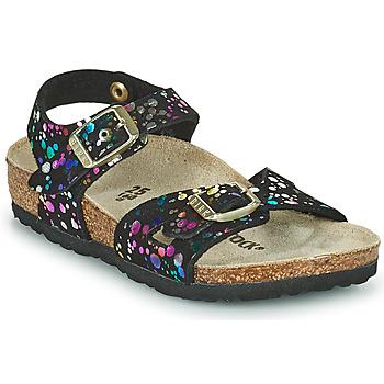 Pantofi Fete Sandale  Birkenstock RIO Negru / Multicolor