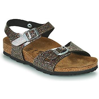 Pantofi Fete Sandale  Birkenstock RIO Negru / Auriu