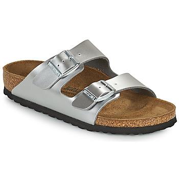 Pantofi Fete Papuci de vară Birkenstock ARIZONA Argintiu