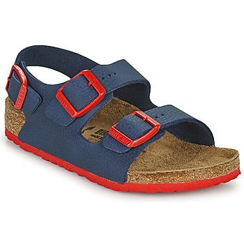 Pantofi Băieți Sandale  Birkenstock MILANO Albastru / Roșu