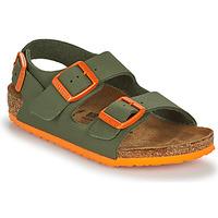 Pantofi Băieți Sandale  Birkenstock MILANO Kaki / Portocaliu