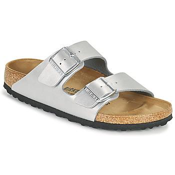 Pantofi Femei Papuci de vară Birkenstock ARIZONA Argintiu