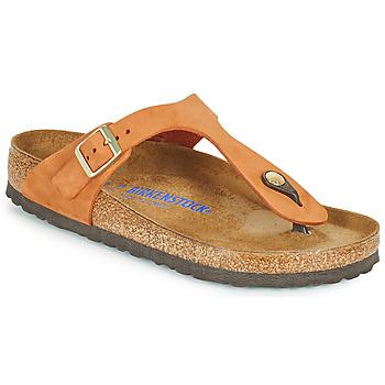 Pantofi Femei  Flip-Flops Birkenstock GIZEH SFB Portocaliu