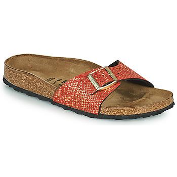 Pantofi Femei Papuci de vară Birkenstock MADRID Roșu / Auriu