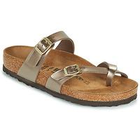 Pantofi Femei Papuci de vară Birkenstock MAYARI Auriu