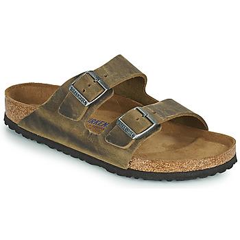 Pantofi Bărbați Papuci de vară Birkenstock ARIZONA SFB Kaki