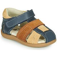 Pantofi Băieți Sandale  Citrouille et Compagnie OLOSS Albastru / Maro