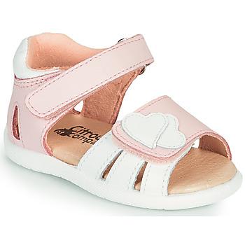 Pantofi Fete Sandale  Citrouille et Compagnie OLESS Roz / Alb