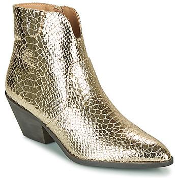 Pantofi Femei Botine Vanessa Wu MINNA Auriu