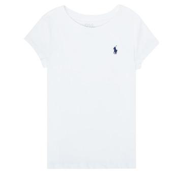 Îmbracaminte Fete Tricouri mânecă scurtă Polo Ralph Lauren ZALLIE Alb