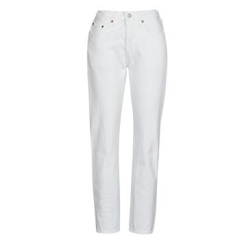 Îmbracaminte Femei Jeans boyfriend Levi's 501 CROP Alb