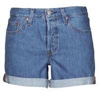 Îmbracaminte Femei Pantaloni scurti și Bermuda Levi's 501 ROLLED SHORT Albastru