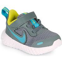 Pantofi Băieți Multisport Nike REVOLUTION 5 TD Gri / Albastru
