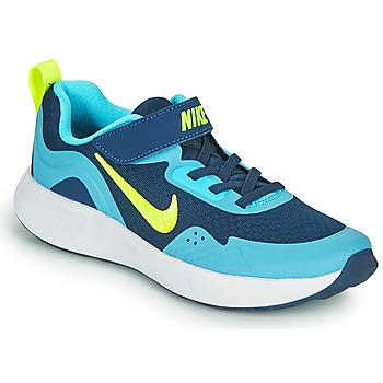 Pantofi Băieți Multisport Nike WEARALLDAY PS Albastru / Verde