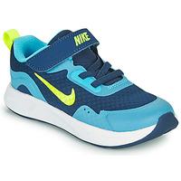 Pantofi Băieți Multisport Nike WEARALLDAY TD Albastru / Verde