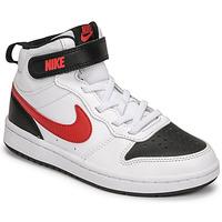Pantofi Băieți Pantofi sport Casual Nike NIKE COURT BOROUGH MID 2 Alb / Roșu / Negru