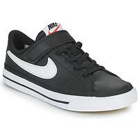 Pantofi Copii Pantofi sport Casual Nike NIKE COURT LEGACY Negru / Alb