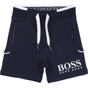 Îmbracaminte Băieți Pantaloni scurti și Bermuda BOSS J04M57-849-C Albastru