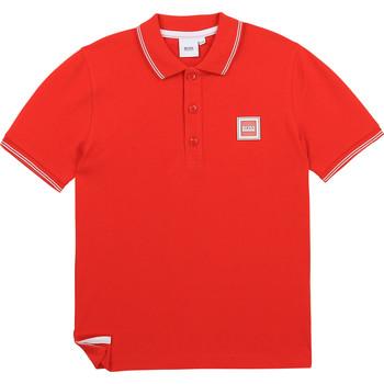 Îmbracaminte Băieți Tricou Polo mânecă scurtă BOSS J25L14-997-J Roșu