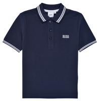 Îmbracaminte Băieți Tricou Polo mânecă scurtă BOSS TONNELA Albastru