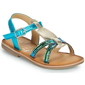 Pantofi Fete Sandale  Mod'8 CALICOT Turcoaz / Auriu