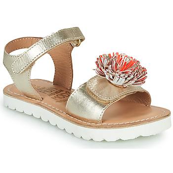 Pantofi Fete Sandale  Mod'8 JELLINE Auriu / Corai