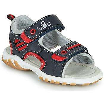 Pantofi Băieți Sandale  Mod'8 TOPPY Albastru / Roșu