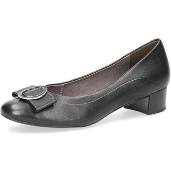 Pantofi Femei Balerin și Balerini cu curea Caprice Elegant Low Heels Black Black