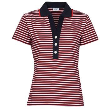 Îmbracaminte Femei Tricou Polo mânecă scurtă Liu Jo WA1142-J6183-T9701 Albastru / Alb / Roșu