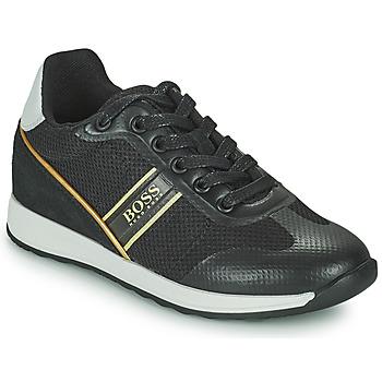 Pantofi Băieți Pantofi sport Casual BOSS TRAMMI Negru / Auriu
