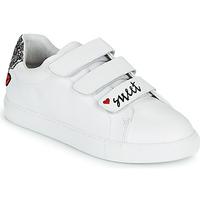 Pantofi Femei Pantofi sport Casual Bons baisers de Paname EDITH SWEET HEART Alb