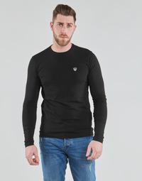 Îmbracaminte Bărbați Tricouri cu mânecă lungă  Emporio Armani EA7 TRAIN CORE SHIELD Negru