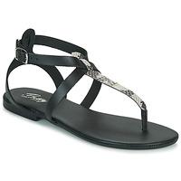 Pantofi Femei Sandale  Betty London ORIOUL Negru / Gri
