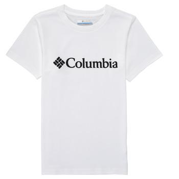 Îmbracaminte Băieți Tricouri mânecă scurtă Columbia CSC BASIC LOGO YOUTH Alb
