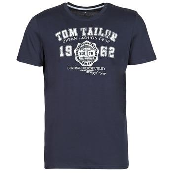 Îmbracaminte Bărbați Tricouri mânecă scurtă Tom Tailor  Albastru