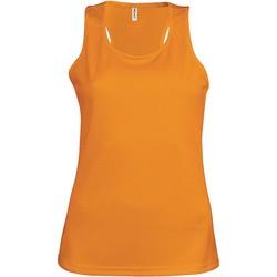 Îmbracaminte Femei Maiouri și Tricouri fără mânecă Proact Débardeur femme  Sport orange