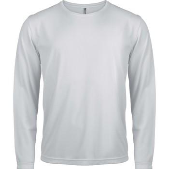 Îmbracaminte Bărbați Tricouri cu mânecă lungă  Proact T-Shirt manches longues  Sport blanc blanc