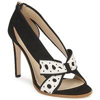 Pantofi Femei Pantofi cu toc Moschino DELOS ESCA Negru / Alb fildeș