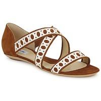 Pantofi Femei Sandale  Moschino DELOS SAND Camel / Alb fildeș