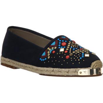 Pantofi Femei Espadrile Giuseppe Zanotti E66084 NAVY beige