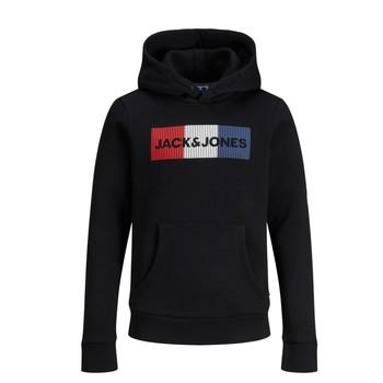 Îmbracaminte Băieți Hanorace  Jack & Jones JJECORP LOGO PLAY SWEAT Negru