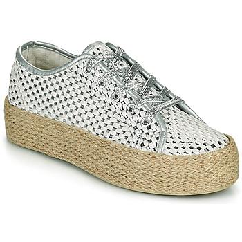 Pantofi Femei Pantofi sport Casual Café Noir DROMA Alb / Argintiu