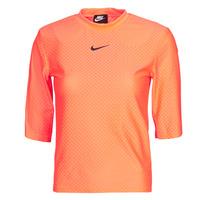 Îmbracaminte Femei Tricouri mânecă scurtă Nike NSICN CLSH TOP SS MESH Portocaliu