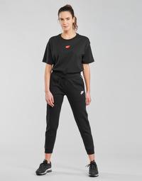 Îmbracaminte Femei Pantaloni de trening Nike NSMLNESSNTL FLC MR JGGR Negru / Alb