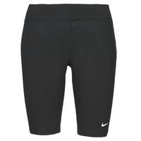 Îmbracaminte Femei Colanti Nike NSESSNTL MR BIKER SHORT Negru / Alb